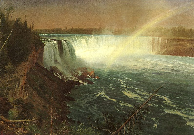Niagara, 1869, on paper mounted on canvas