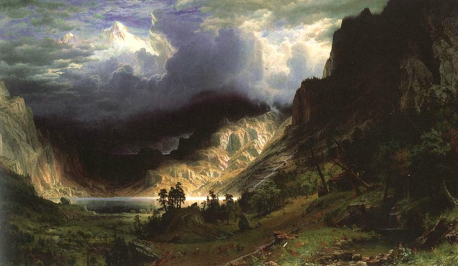 Storm in the Rocky Mountains, Mt Rosalie, 1866