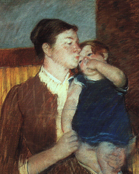 Mother and Child, 1888, pastel on paper