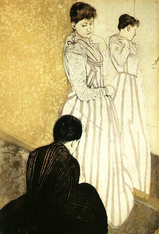 The Fitting, 1890-91, color drypoint & aquatint