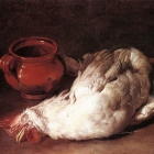Still Life With Hen Onion And Pot