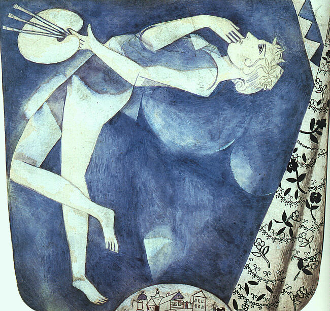 The Painter to the Moon, 1917, gouache and watercolor on paper