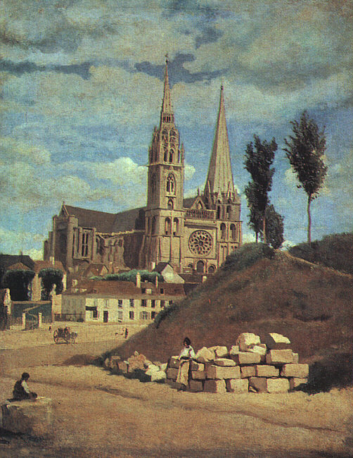 Chartres Cathedral, 1830 (retouched 1872)