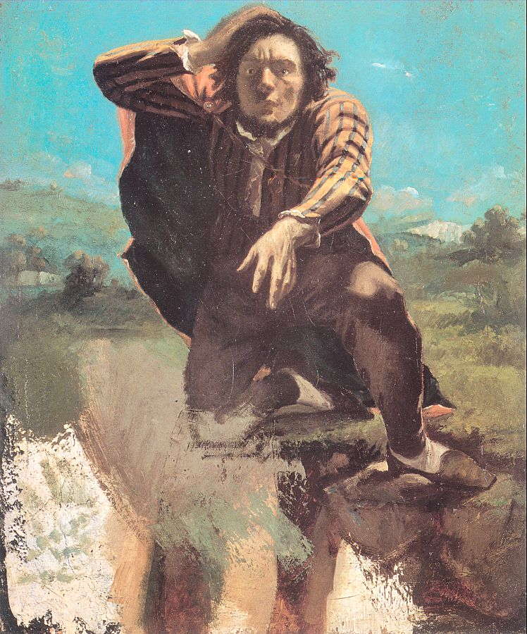 The Desperate Man (The Man Made by Fear), 1843-44, Oil on paper mounted on canvas