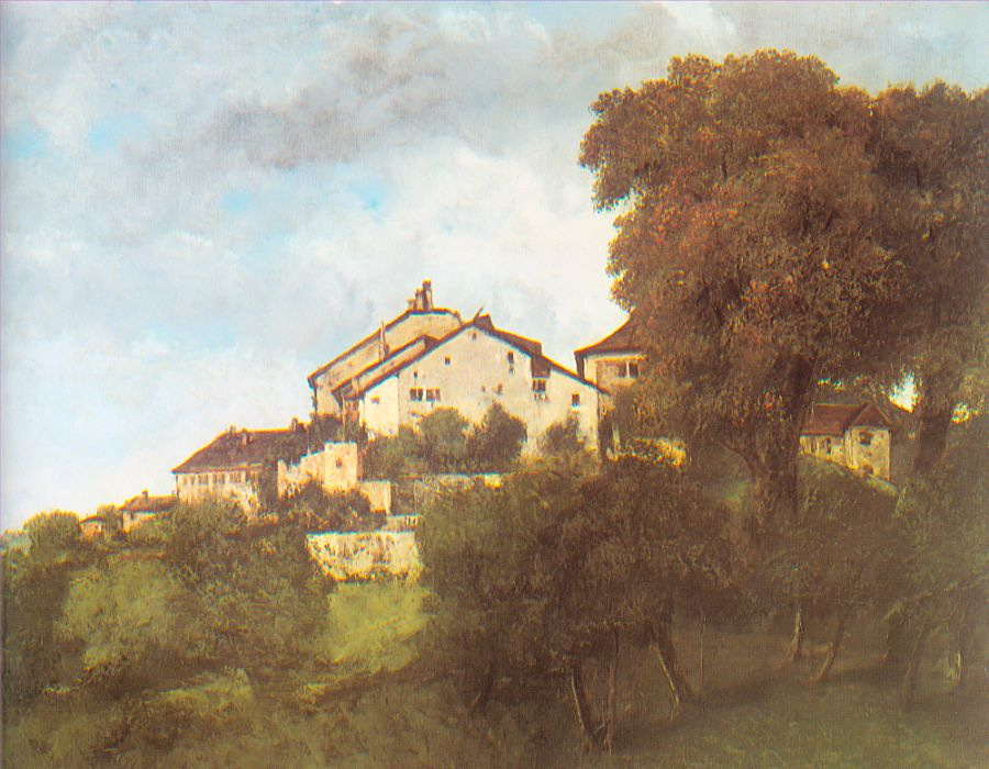 The Houses of the Chateau D'Ornans, 1853