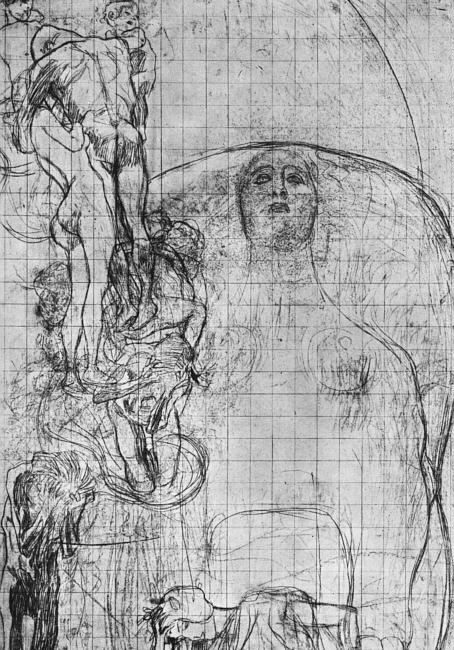 Study for Philosophy, 1898-99, black crayon and pencil