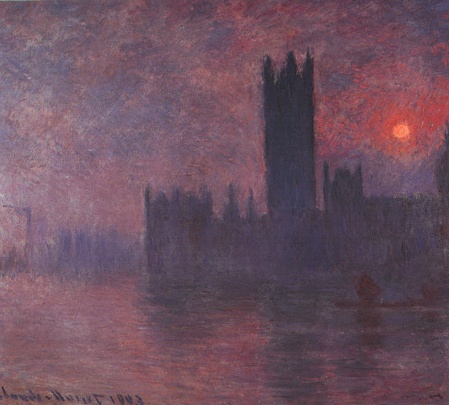 London - Houses of Parliament at Sunset, 1903
