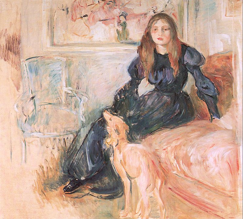 Julie Manet and her Greyhound Laertes, 1893