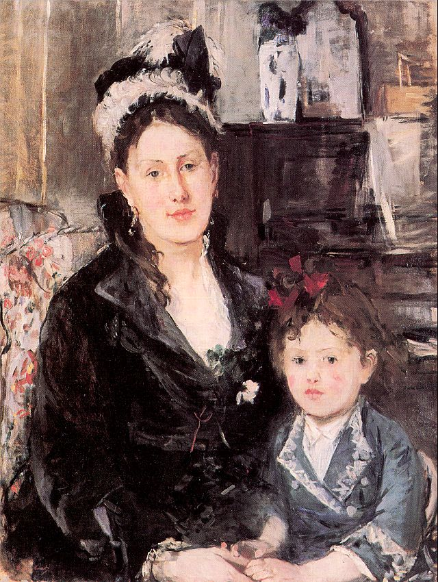 Portrait of Mme Boursier and her Daughter, 1874