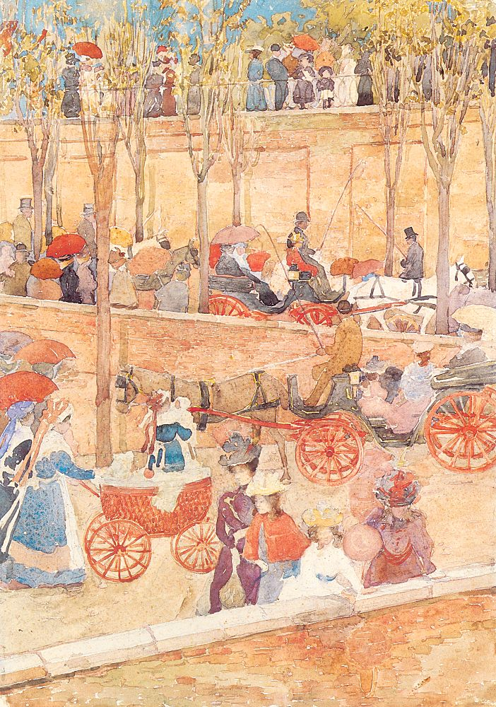 Afternoon, Pincian Hill, 1898-99, watercolor and pencil on paper