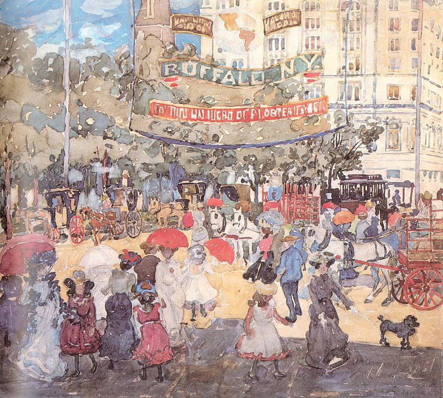 Madison Square, 1901, watercolor and pencil on paper
