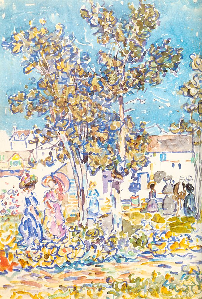 Spring Promenade, 1910-11, Watercolor and pencil on paper