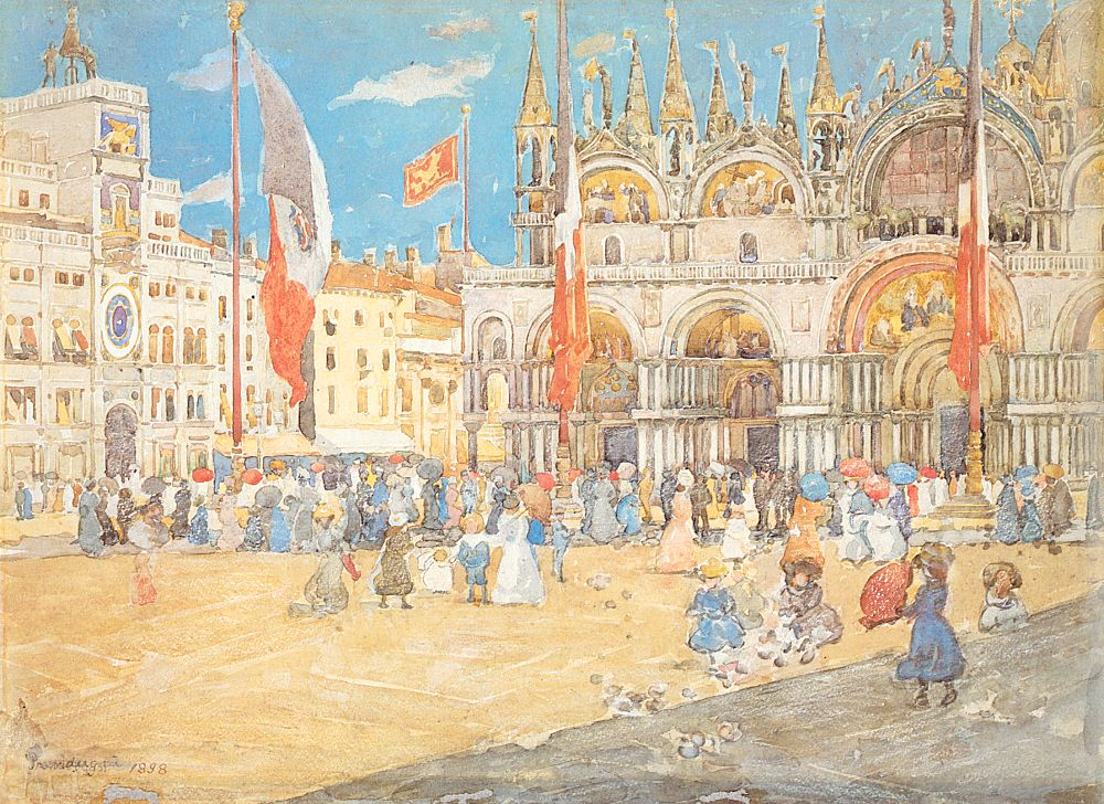 St Mark's, Venice, 1898, watercolor and pencil on paper