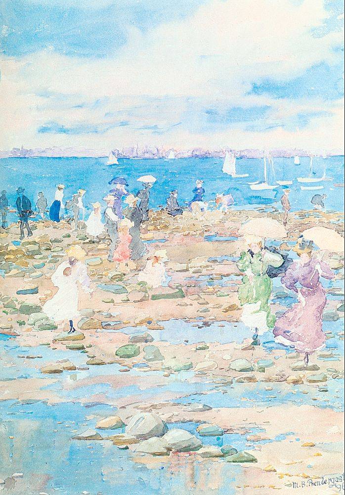 Summer Visitors, 1896, watercolor and pencil on paper