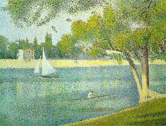 The Siene at la Grande Jatte, 1888