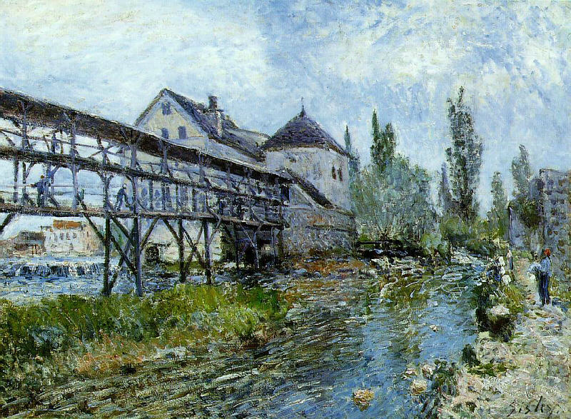Provencher's Mill at Moret, 1883