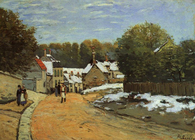 Early Snow at Louveciennes, 1870-71