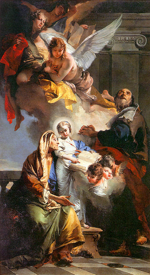 The Education of the Virgin Mary, 1732