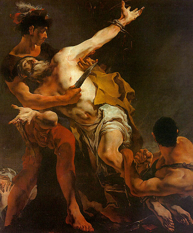 The Martyrdom of St. Bartholomew, 1722