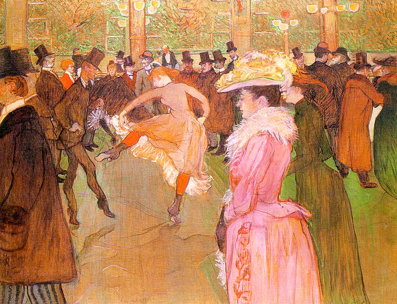 Training of the New Girls by Valentin at the Moulin Rouge 1889-90