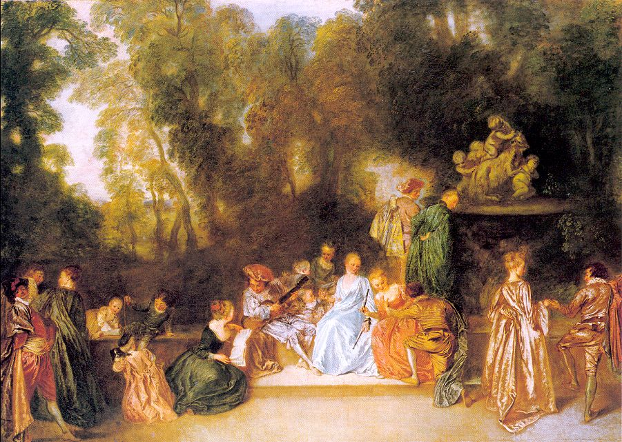 Entertainment in the Open Air, 1721