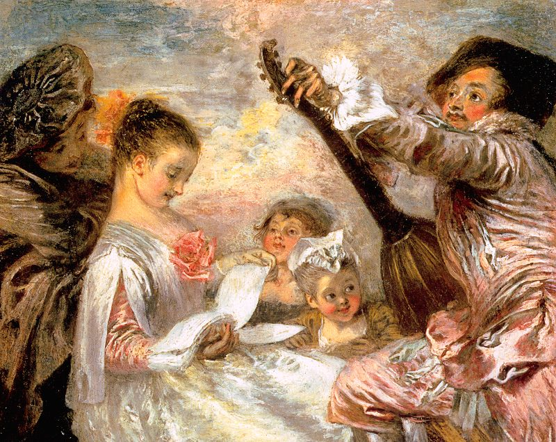 The Music Lesson, 1719, oil on panel