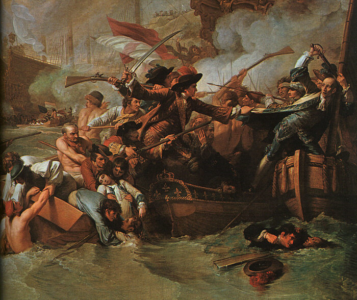 The Battle of La Hogue, detail, 1778